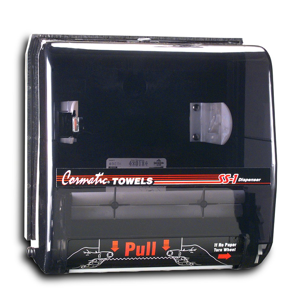 10036500049499 Cormatic® Translucent Smoke SS-1 Service Station Roll Paper Key Lock Towel Dispenser