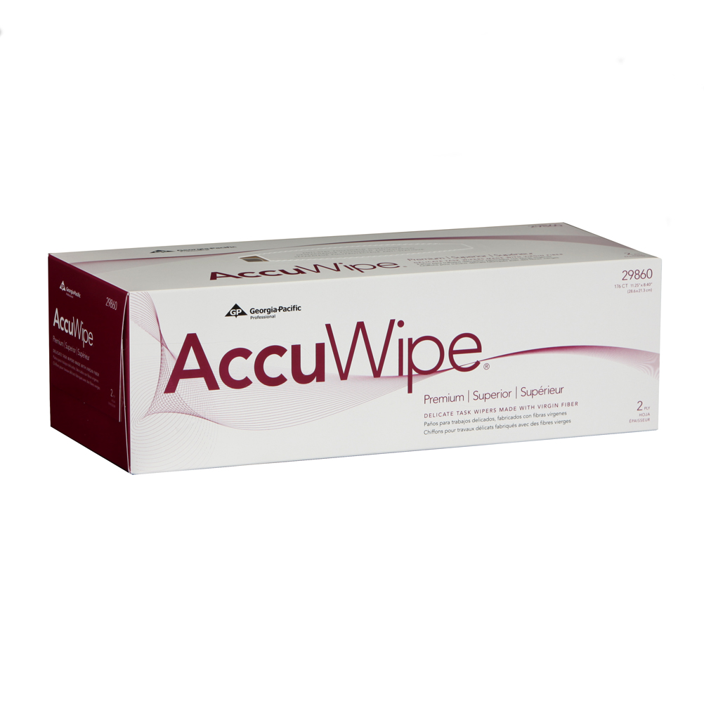 10073310298600 AccuWipe® White Premium 2-Ply Delicate Task Wipers
