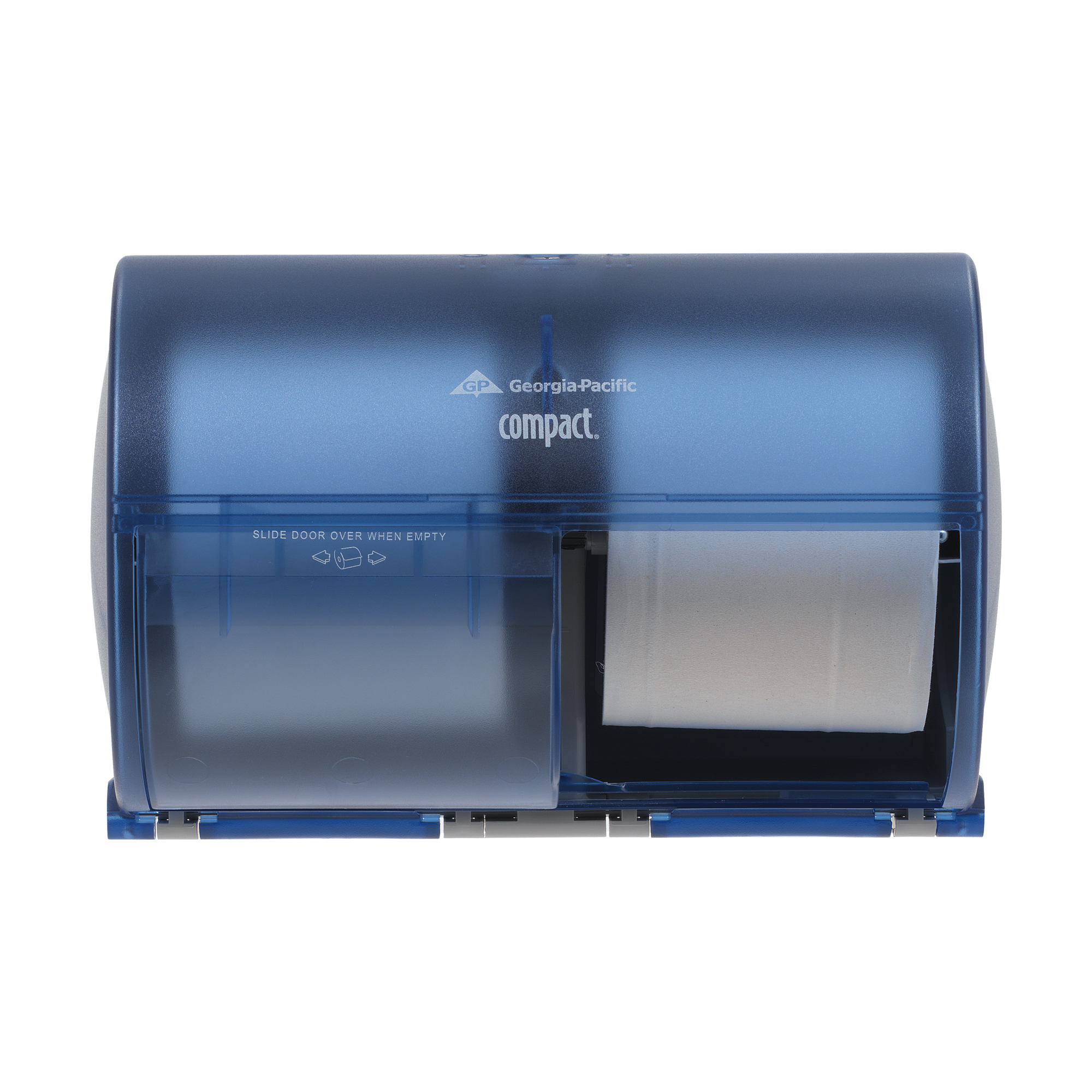 00073310567839 Compact® Splash Blue Side-By-Side Double Roll Bathroom Tissue Dispenser