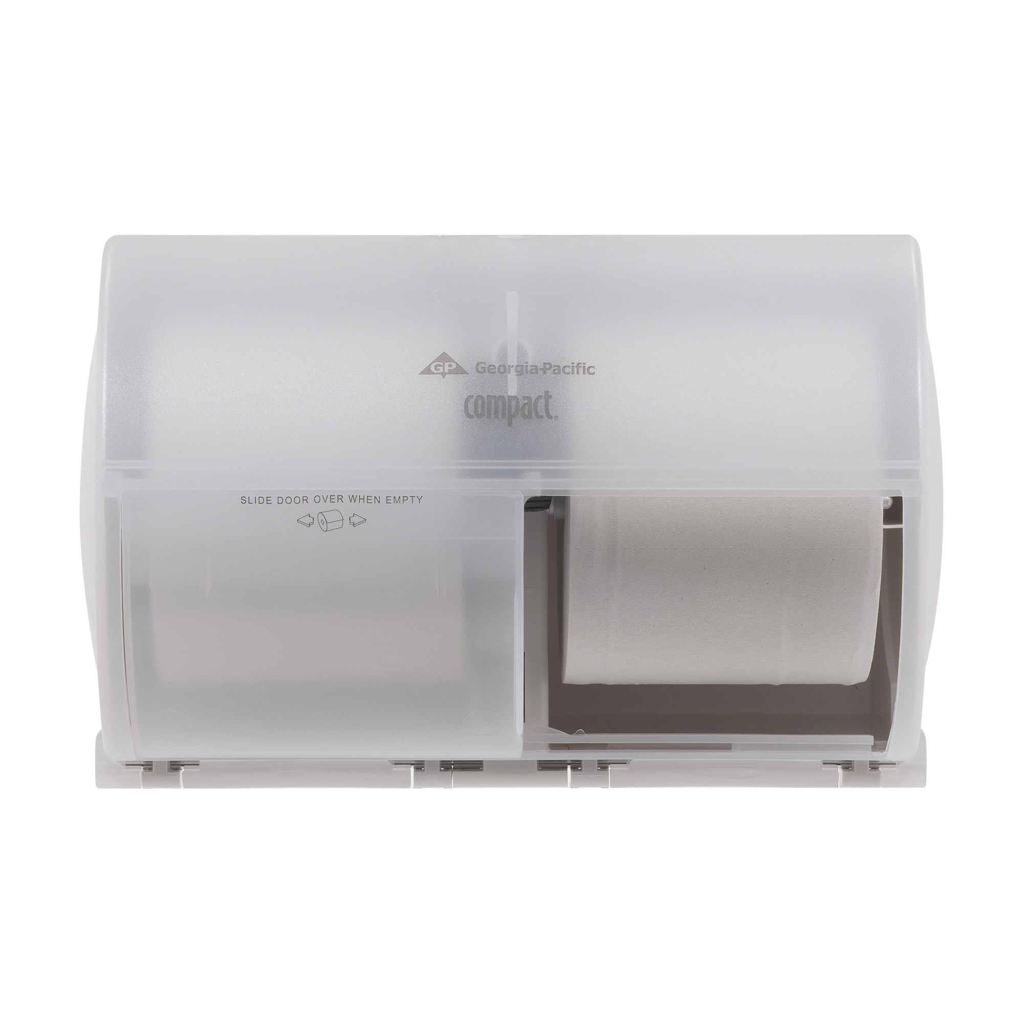 00073310567976 Compact® Side-By-Side Double Roll Bathroom Tissue Dispenser