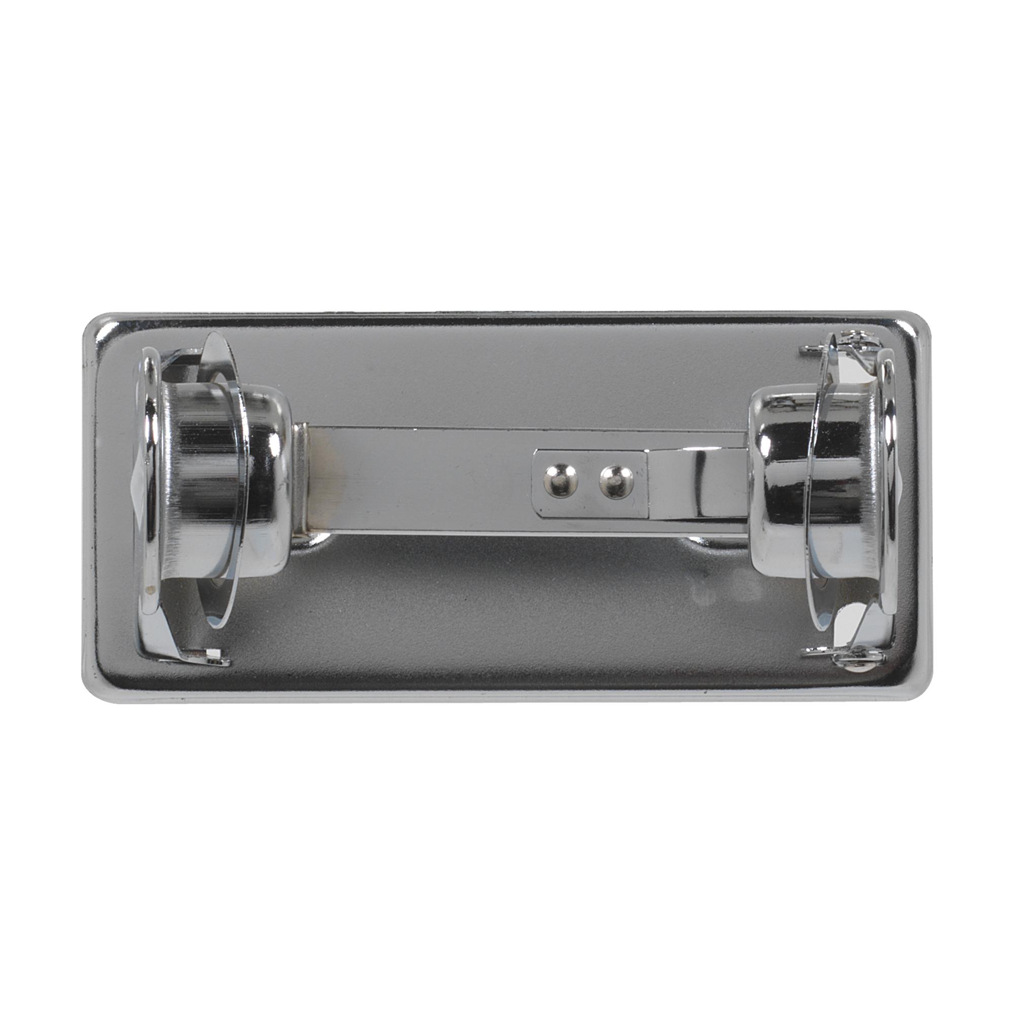 10073310572205 GP Chrome Metal 1-Roll Open Self-Locking Standard Bathroom Tissue Dispenser