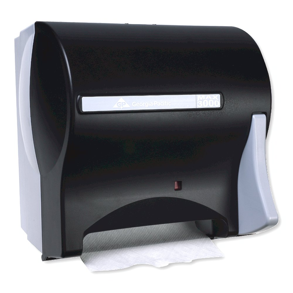 10073310584611 Max 3000® Black Single Roll Towel Dispenser (Z-Series)