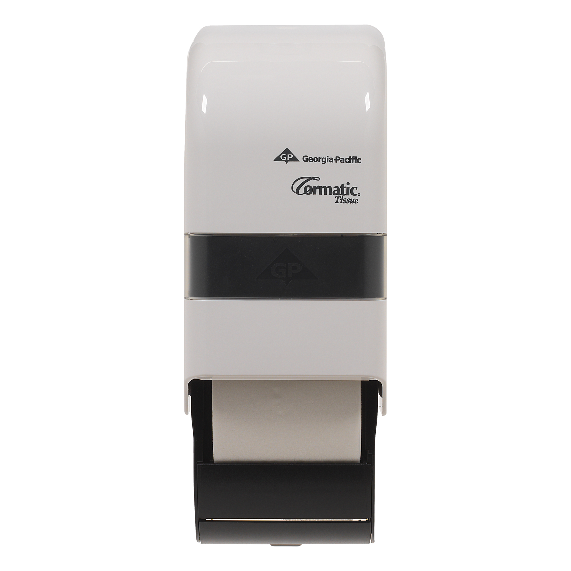 10073310300600 Cormatic® White Designer Series Vertical 2-Roll Bath Tissue Dispenser