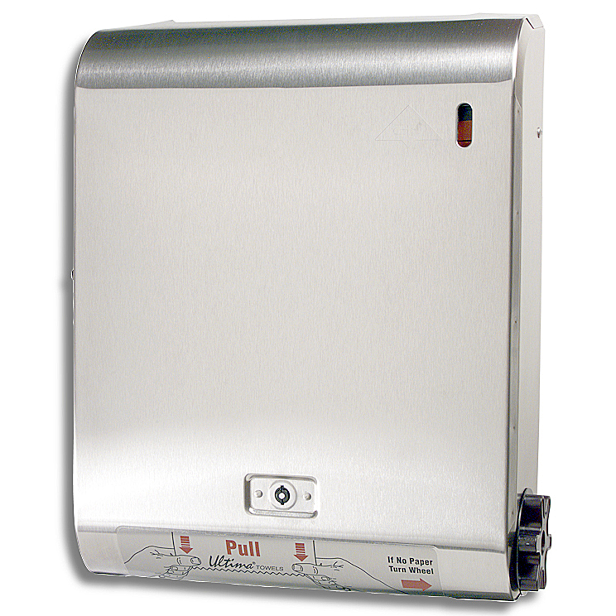 10036500049871 Better Alternative® Stainless Steel Recessed Roll Towel Dispenser BU-1S (P12)(Key Lock)
