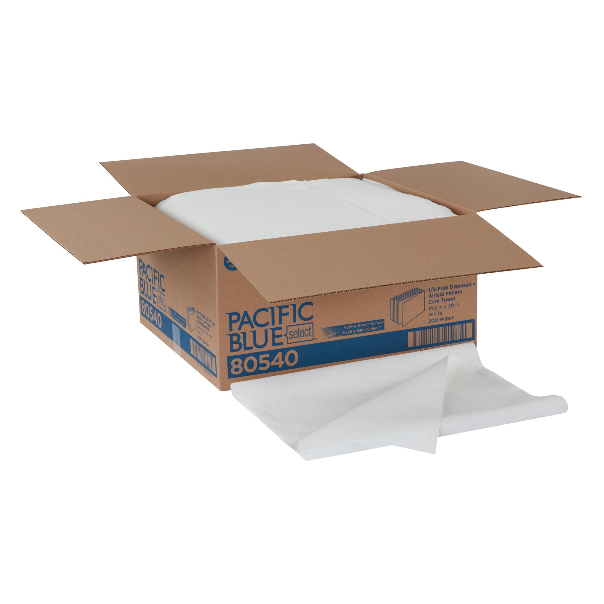 Soft-n-Fresh Patient Care Airlaid Disposable Bath Towel, White