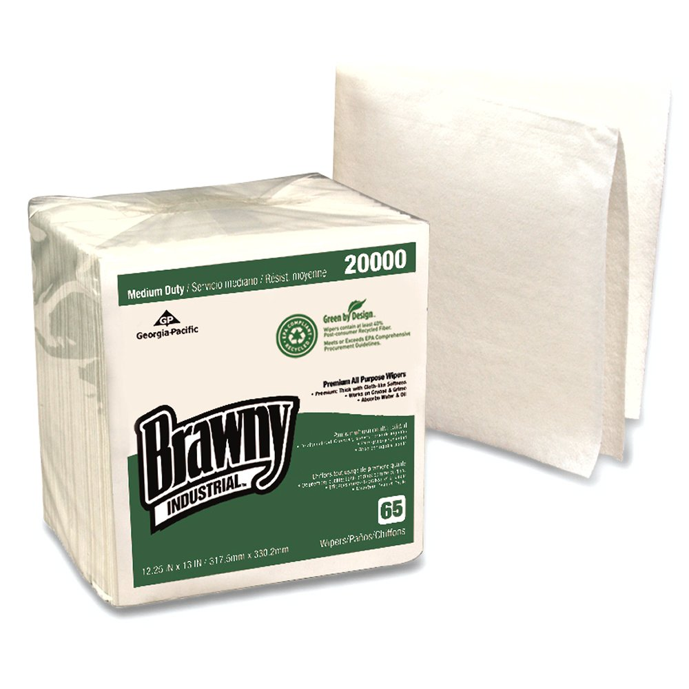 10073310200009 Brawny Industrial Medium Duty EPA Compliant 1/4 Fold DRC Wipers