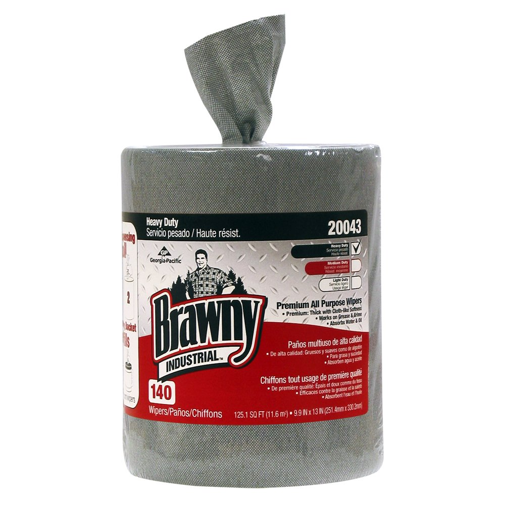 10073310200436 Brawny Industrial� Gray Heavy Duty Premium All Purpose DRC Wiper Bucket Refill