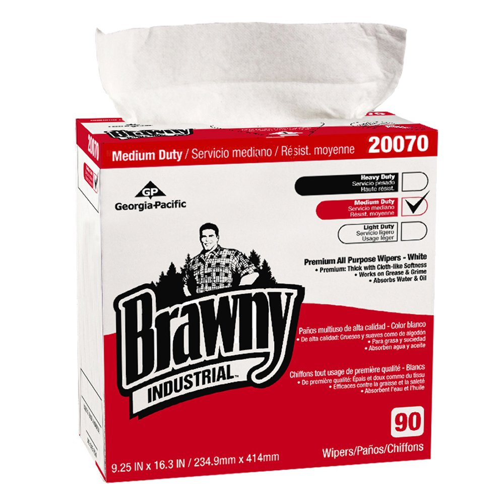 10073310302284 Brawny Industrial™ White Premium All Purpose DRC Wipers