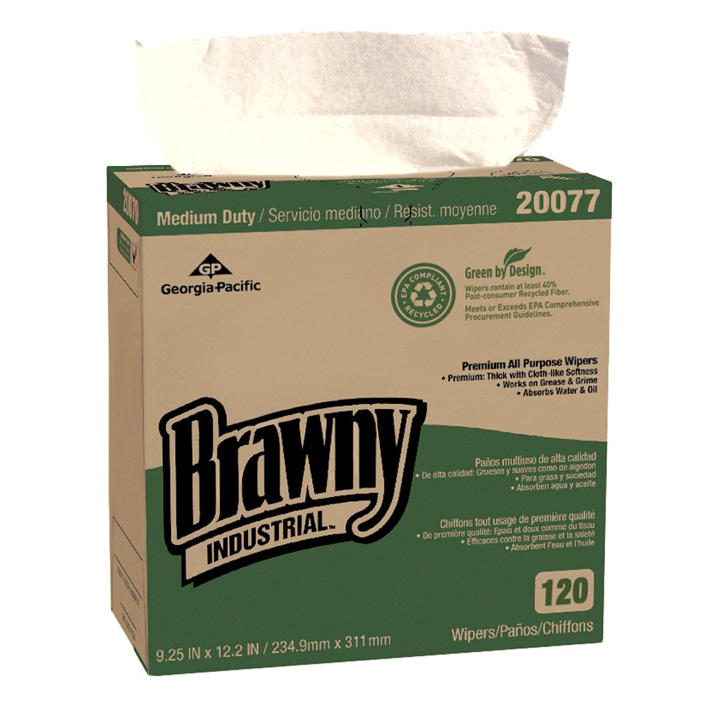10073310200771 Brawny Industrial™ Oatmeal Medium Duty Premium All Purpose EPA DRC Wipers
