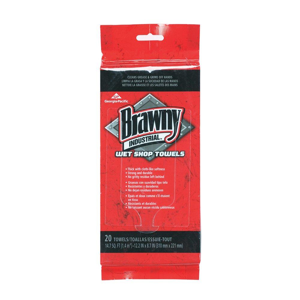 10073310215102 Wiper Brawny Ind. Wet Shop Towel Pouch