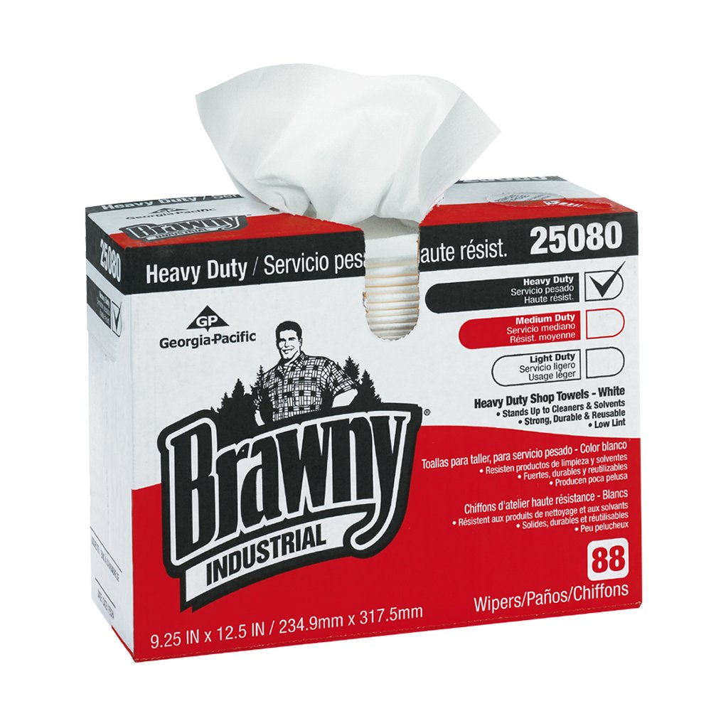 10073310302390 Georgia-Pacific Brawny Industrial™ White Heavy Duty Shop Towel (Dispenser Box)