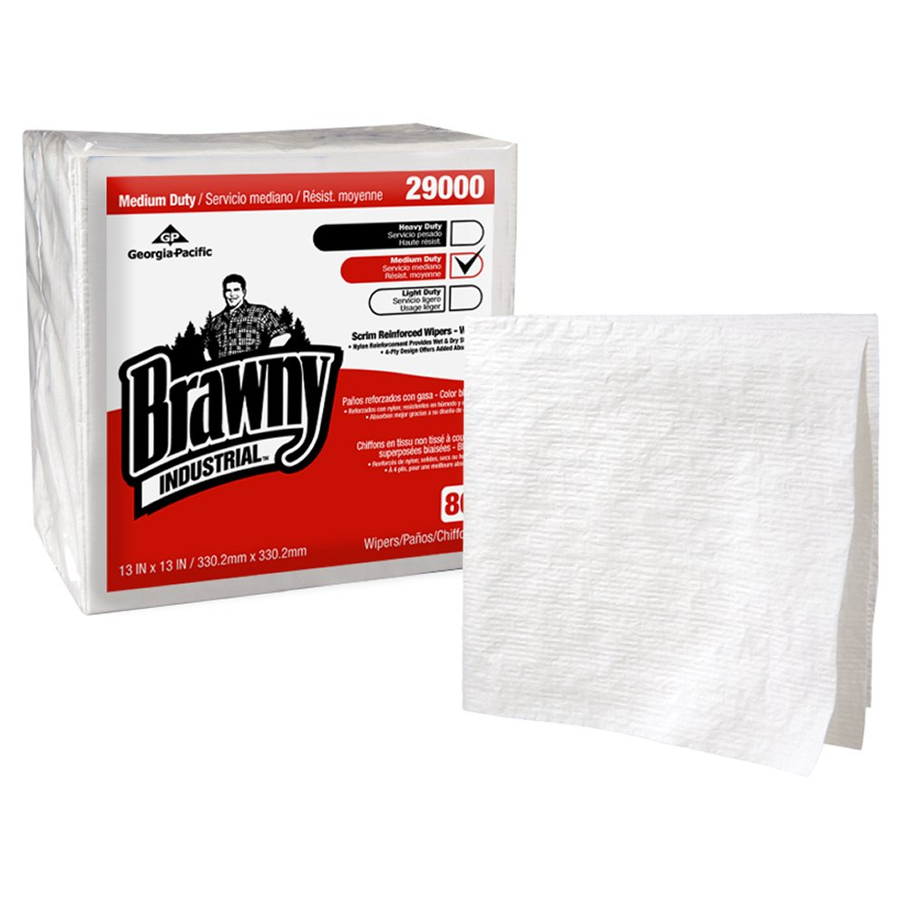10073310290000 Brawny Industrial� 4-Ply 1/4 Fold Scrim Reinforced Paper Wipers