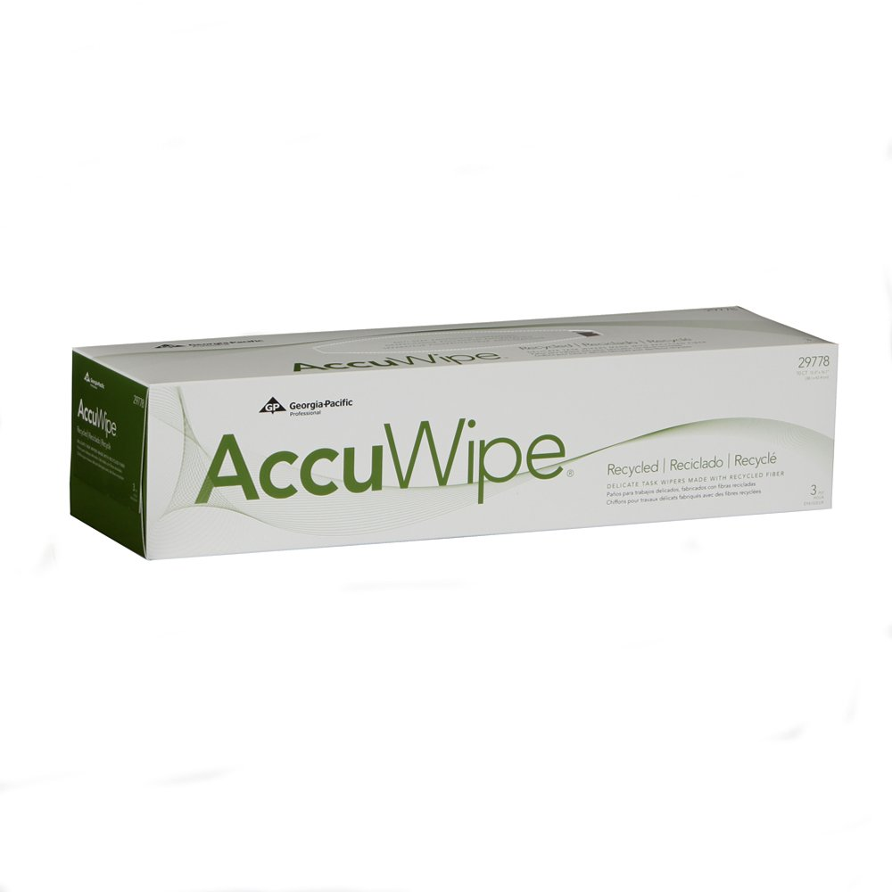 10073310302222 AccuWipe� White Recycled 3-Ply Delicate Task Wipers