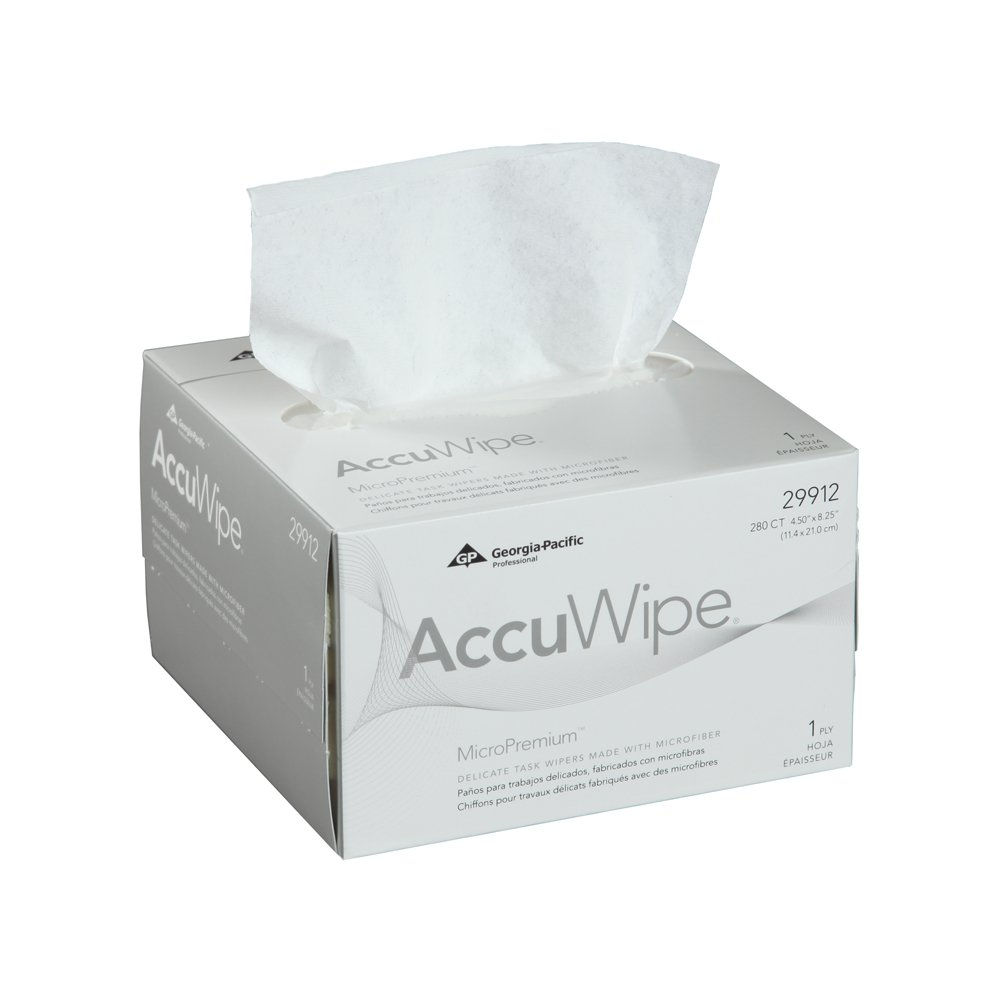 10073310299126 AccuWipe® White MicroPremium 1-Ply Delicate Task Wipers