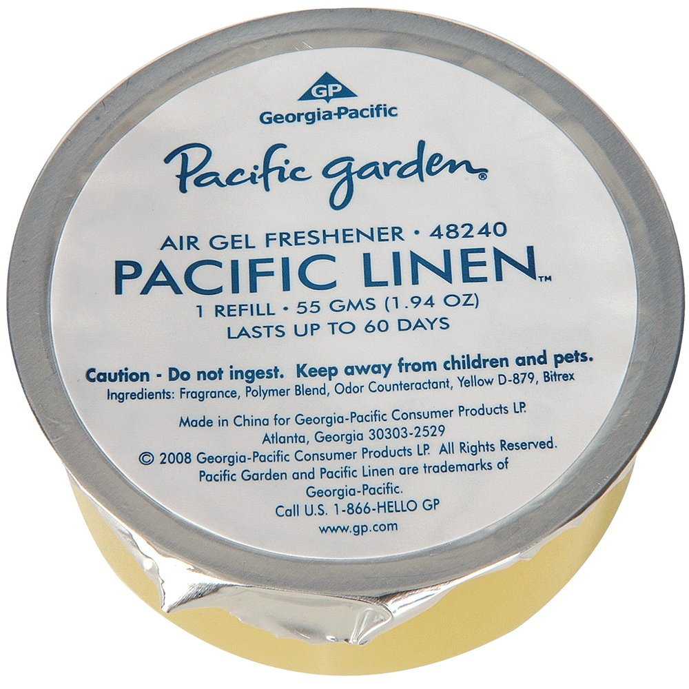 10073310482405 Pacific Garden® Fresh Linen Air Freshener Gel Refill - Fresh Linen Scent