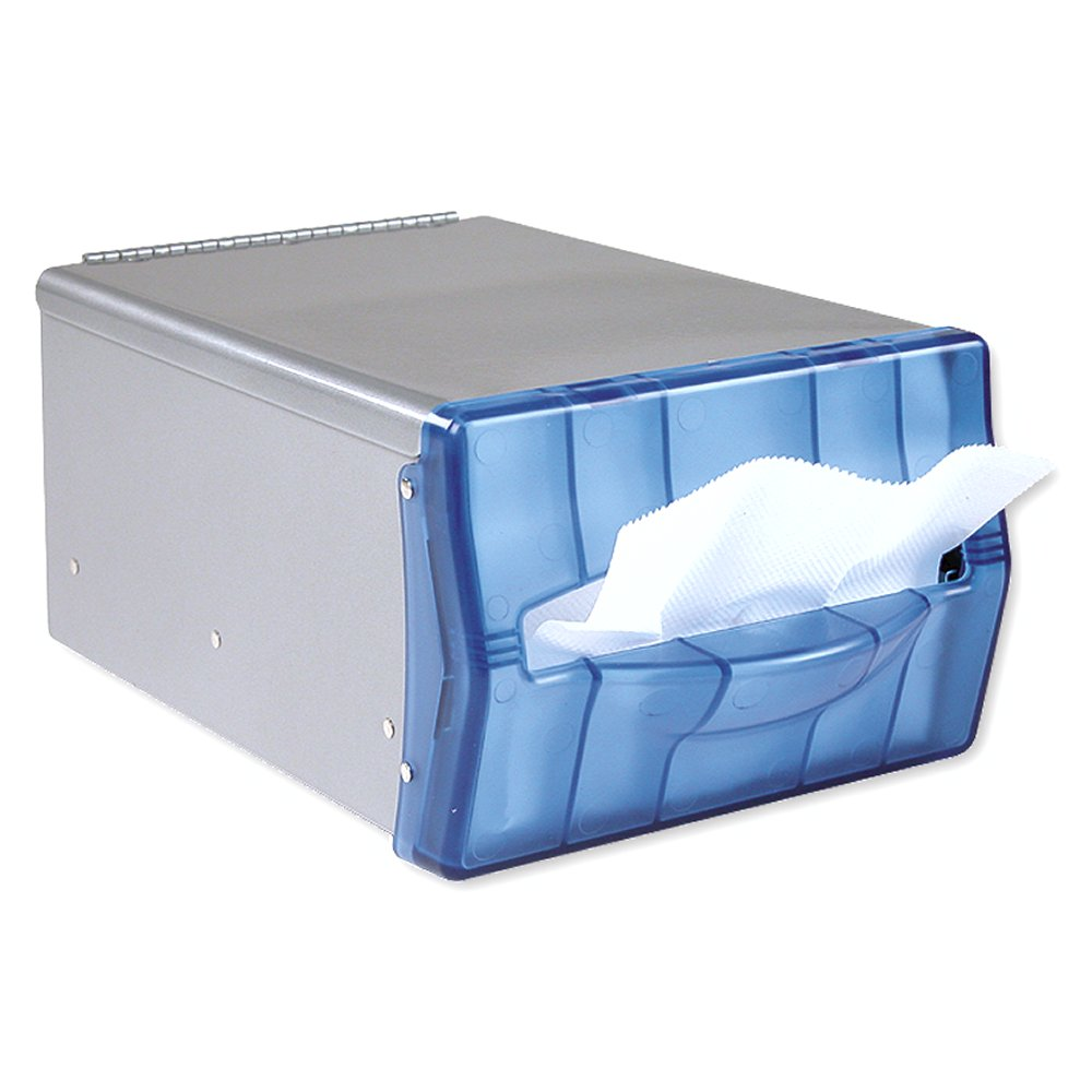 10073310542055 EasyNap� Stainless- Splash Blue Face Counter Top Napkin Dispenser