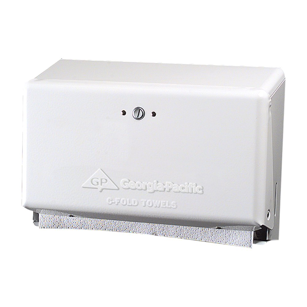 00073310557014 GP® White Georgia-Pacific C-Fold Towel Dispenser