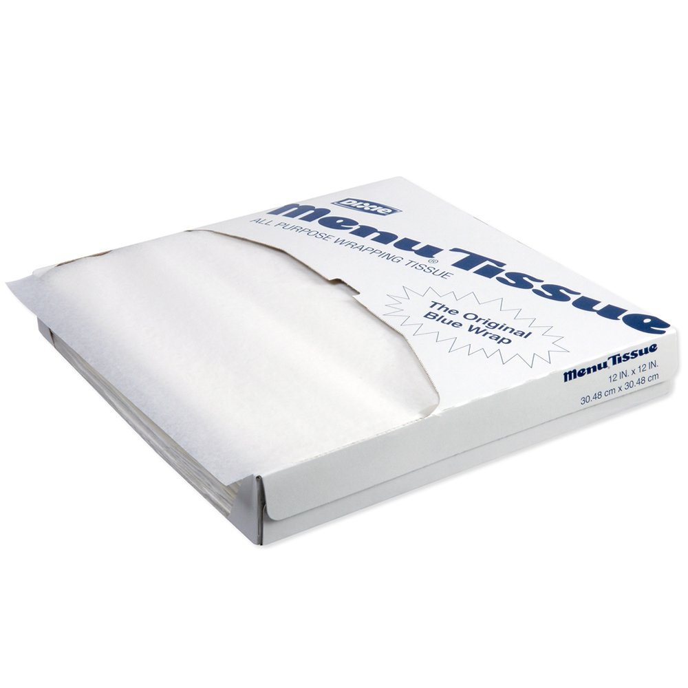 10078731701272 Menu Tissue� White Menu Tissue - No Wax 12