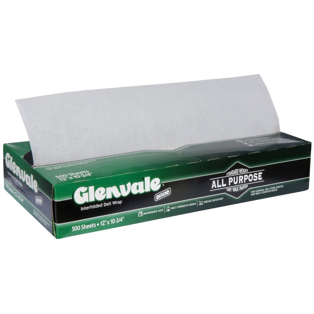 10078731600339 Glenvale� White Interfolded Medium Weight Dry Waxed Deli Papers12